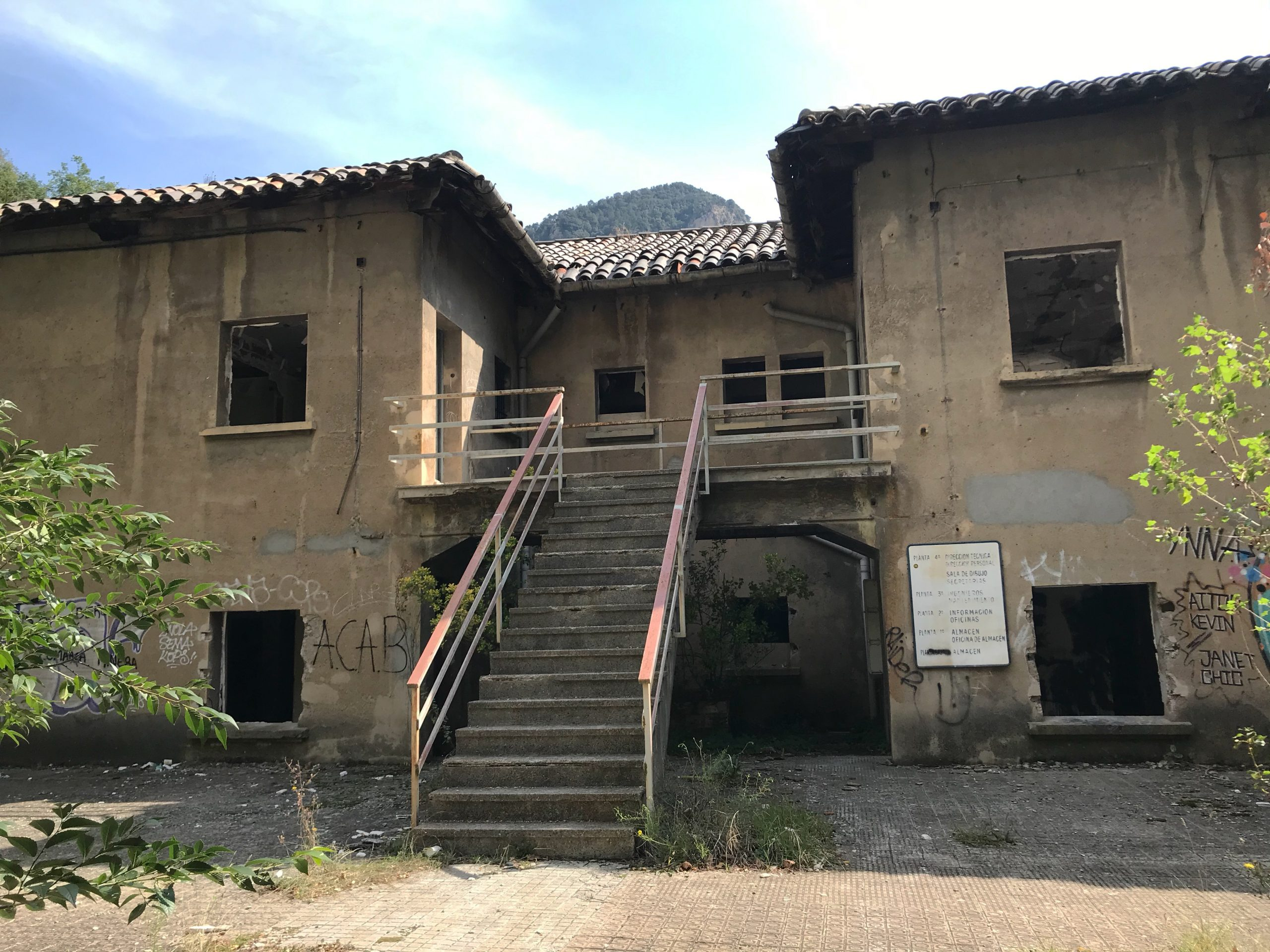 galería abandonada